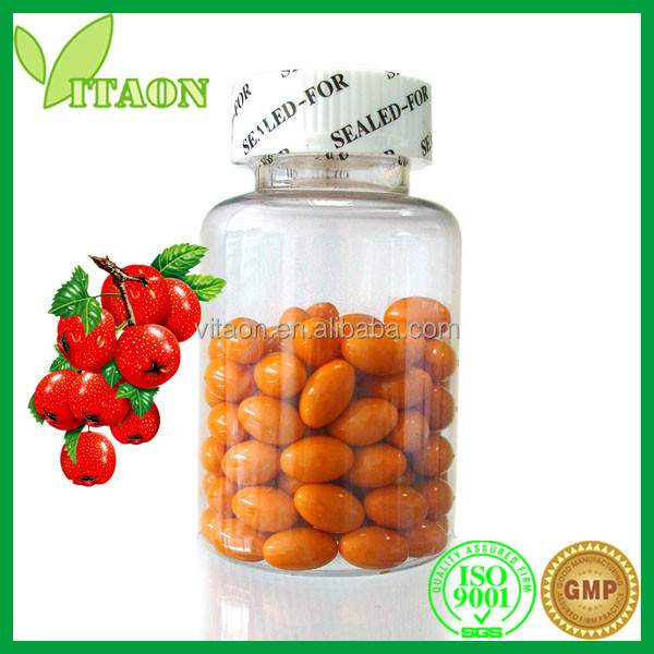 500 mg ISO GMP Certificate and OEM Private Label Hawthorn Berry Extract Softgels