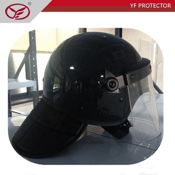 Tactical ABS Riot control helmet with flat visor
