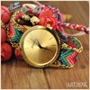 New Fashion Cute Handcrafted Woven Quartz Watch Rope Braided Women Geneva Watches silicon watch WAT1899E