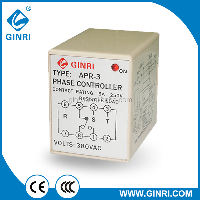 GINRI APR-3/APR-4 Phase Failure Phase Reversal Relay APR control relay