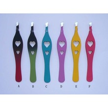 best selling Plastic eyebrow tweezers