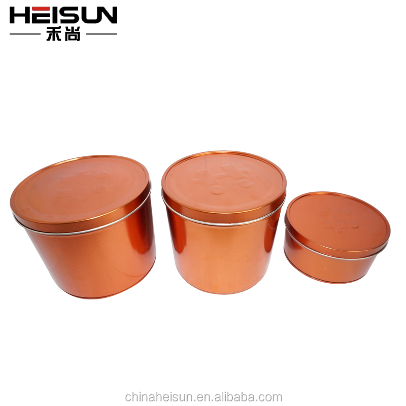 wholesale paint metal tin can with customized printing