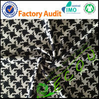 wholesale tr polyester/cotton jacquard fabric knitted for sex girl clothing