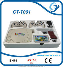 8 Bit TV Video Game Playstation Console 2 Joysticks with Super Mario Game.