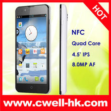 4.5 Inch FAEA F1 Quad Core OGS IPS Screen Android 4.1 NFC Gyroscope Smart Phone