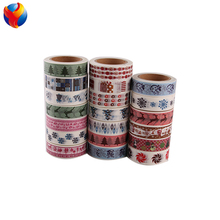 YEDDA brand china washi tape factory direct sale Christmas use hand make diy decor masking decorative tape