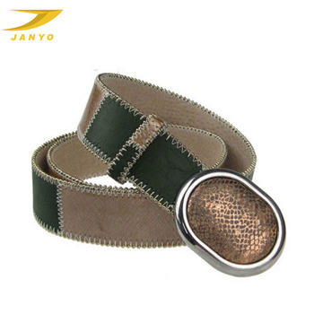 Handmade quality elegant fancy real leather woman belt