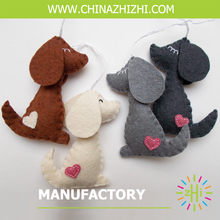new style best seller felt stuffed dogs with high quality wholesale china