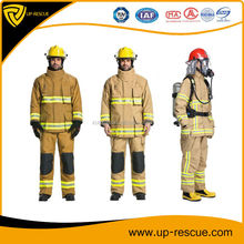 EN 469 Fireman rescue gear/ Firefighting suit/ Fireapproach suit with 4 layer structure aramid cloth Firefighter uniform
