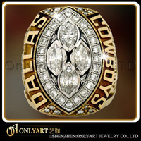 1992 Dallas Cowboys silver 925 championship ring, 3D design ring