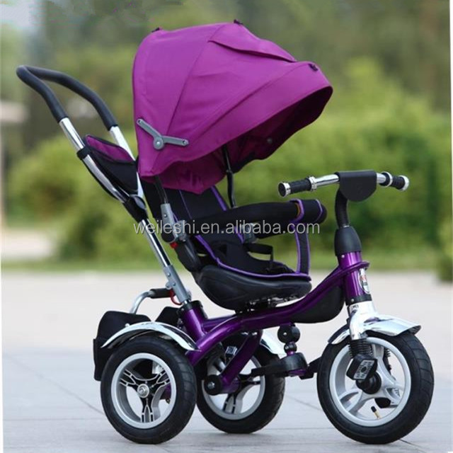 Tricycle for kids with 360 degree foldable sunshade