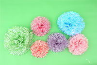 flower pom poms for wedding and party