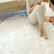 Deluxe rubber backed washable shag rug