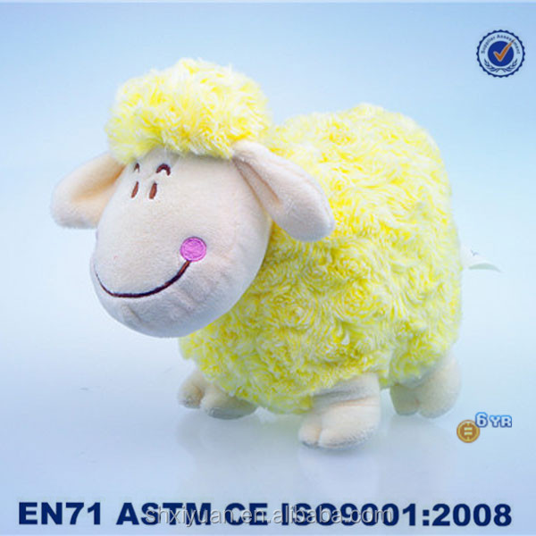 Safe yellow sheep/decorative stuffed toys/plush material animal