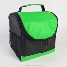 fitness outdoor portable insulated zippered cooler lunch bag