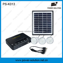 4W mini home solar light system with phone charger controller for family use African market