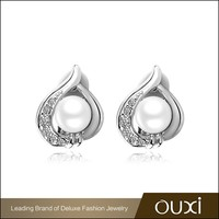 OUXI new arrival artificial beautiful earring settings stud