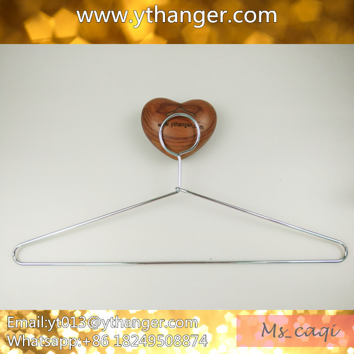 silver color factory price metal wire cloth hanger coat hanger metal hanger