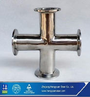 Manufacturering Sanitary Stainless Steel Cross Pipe Fitting