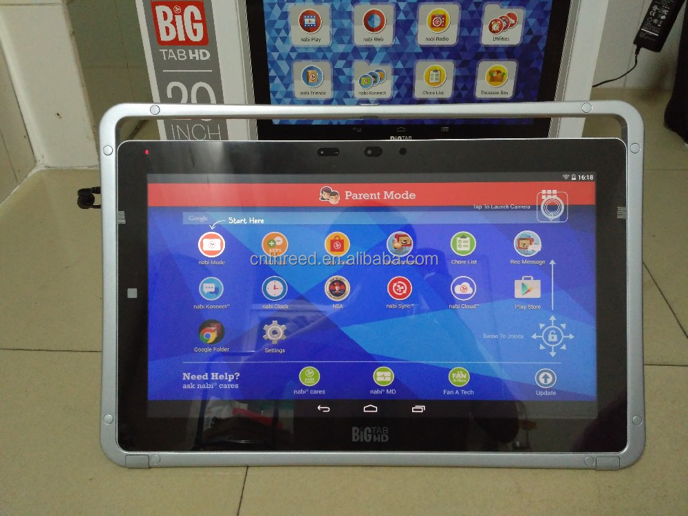 Fuhu Na bi Big Tab HD 20 kids tablet with Blue Morpho OS. On stock