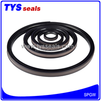 Wholesales PTFE NY NBR SPGW Piston Hydralic Oil Seal For Excavator Repair Parts