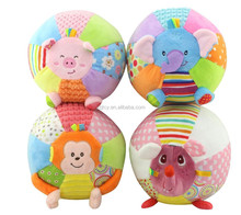 FREE SAMPLE soft plush baby ball toy/Bell Inside Soft Plush Baby Ball Toy
