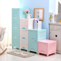 Multifunction Plastic storage drawers 4 layers storage cabinet plastic storage cabinet