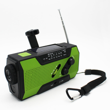 hot amazon waterproof outdoor AM FM NOAA emergency solar hand crank radio with LED Lamp