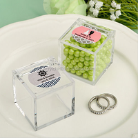 Personalized Acrylic Candy Favor Box Wedding