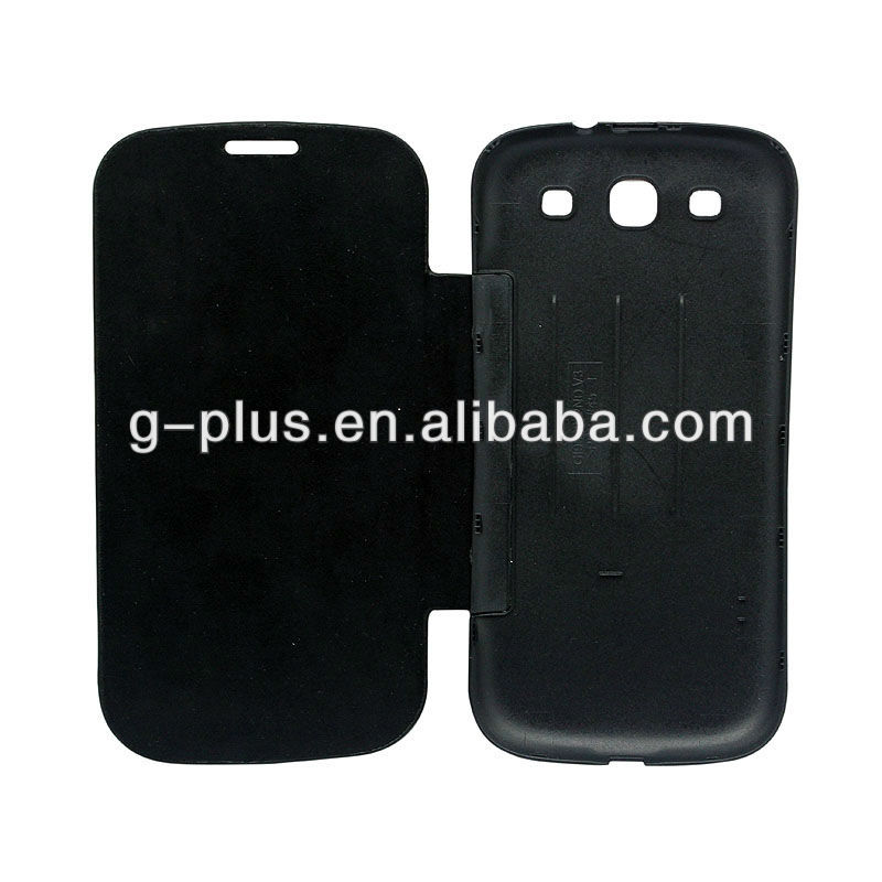 Black Leather Flip Cover Carrying Case Pouch for Samsung Galaxy S3 SIII GT-i9300 i9300