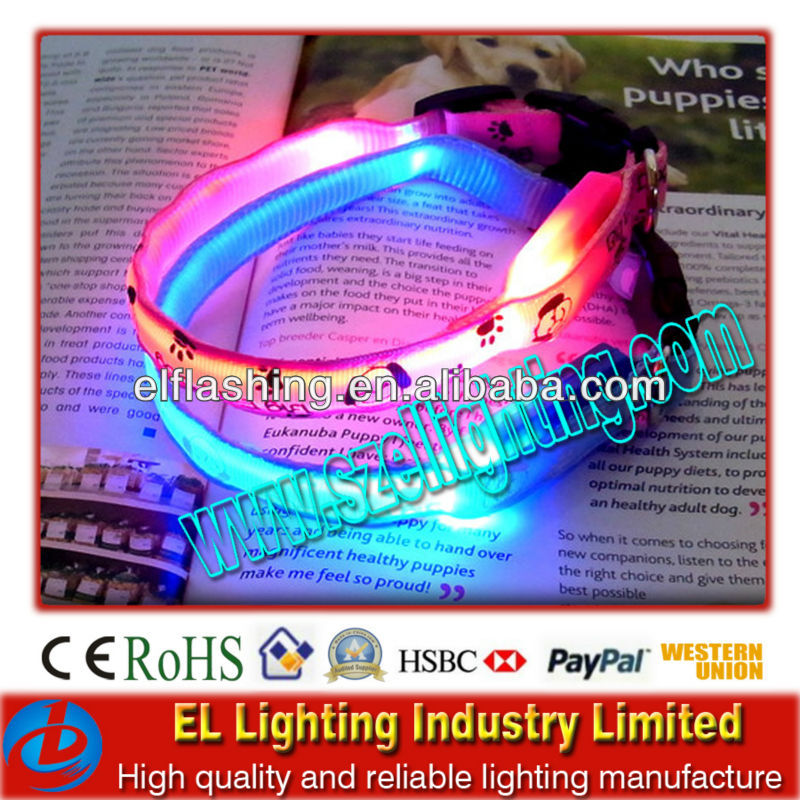 High Brightness LED Dog Collar CE/ROHS certified