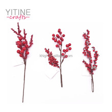 Factory Direct Artificial Christmas Decoration Foam Berry Picks From Yitine Crafts