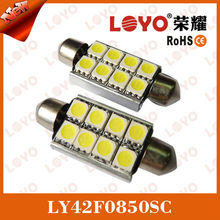 42mm festoon LED canbus 1042-8SMD-5050-CB 2015 super bright 8smd festoon led canbus with heat sink festoon led canbus