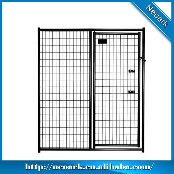 Powder coated dog kennel gate panel, 6'x5' gate panel