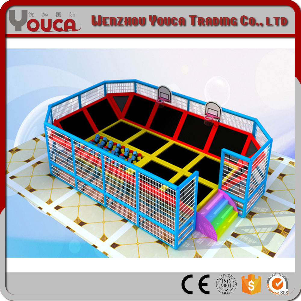YOUCA Customized Small Trampoline For Kid With Ninja Course