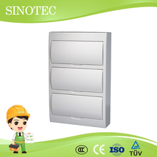 Home electrical breaker box hk waterproof plastic distribution surface box/ wall