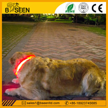 2015 unique 100% nylon flashing led dog collars small dog