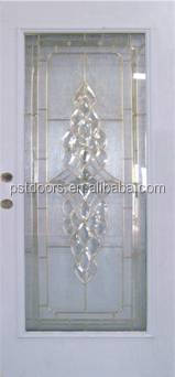 Full Lite Steel Entry Door White Color Left Hand Open