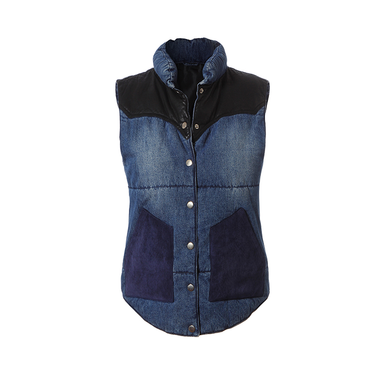 Hot sale fashion denim vest pattern wholesale