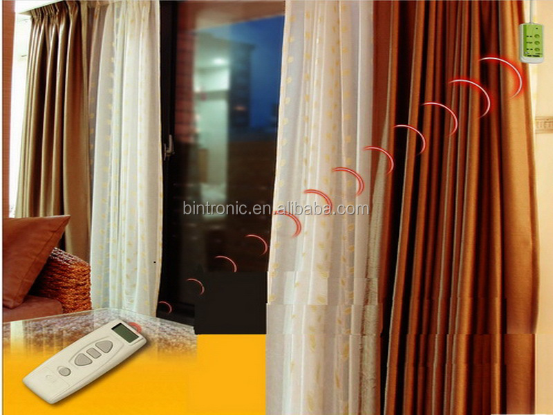Bintronic window curtains design motorized custom draperies