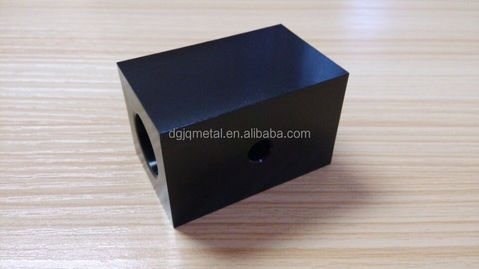 OEM services rapid prototype high procision metal/custom aluminium through hole technology/make black anodized process