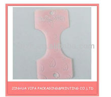 Fashion pink clamp for jewery with heart printed