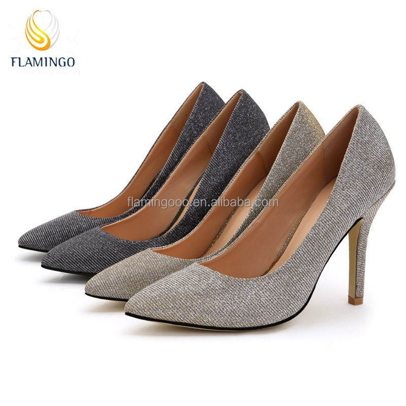 FLAMINGO 2015 LATEST ODM OEM evening shoes for women,cheap wholesale shoes in china,glitter shoes