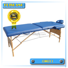 CE qualified wooden leisure massage table with adjustable headrest