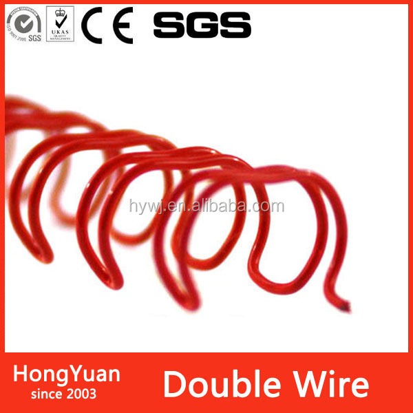 pastel color red/blue/green/yellow/ binding wire and binding machine manufacturer,Hongyuan wire-o with various colors
