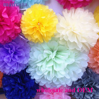 best wholesale online wedding decoration 8 inch paper flowers wedding hanging tissue paper pom poms for wholesale online and OEM