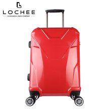 ABS/PC Polycarbonate Carryon Red Travelmate ABS Trolley Italian Luggage
