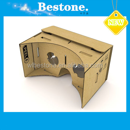 2017 Hot Selling DIY 3D vr glasses 3D custom print Google Cardboard for promotional gifts