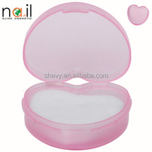 accept oem heart Nail Polish Remover acetone free round nail polish remover pads