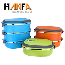 Wholesale colorful stainless steel bento multi layer tiffin carrier lunch box